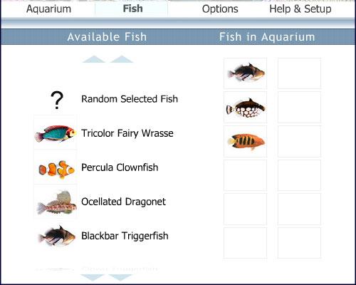 Simaquarium help for Freshwater fish list